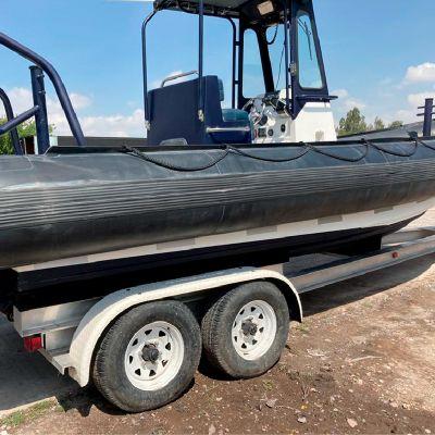 Embarcación táctica 26 Rib 700 del año 2014 con dos motores Mercury en venta en San Luís Potosí