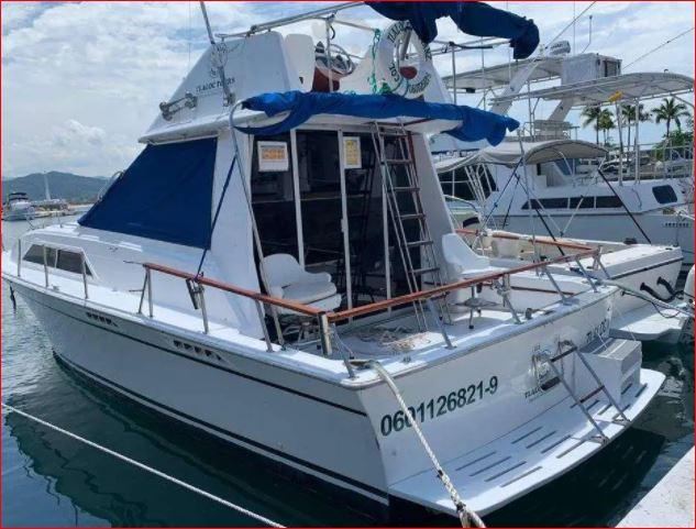 Yate de 32 pies con motores Cummings en venta en Manzanillo, Colima