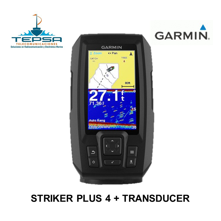 Garmin sonda Striker Plus 4 con transducer en venta